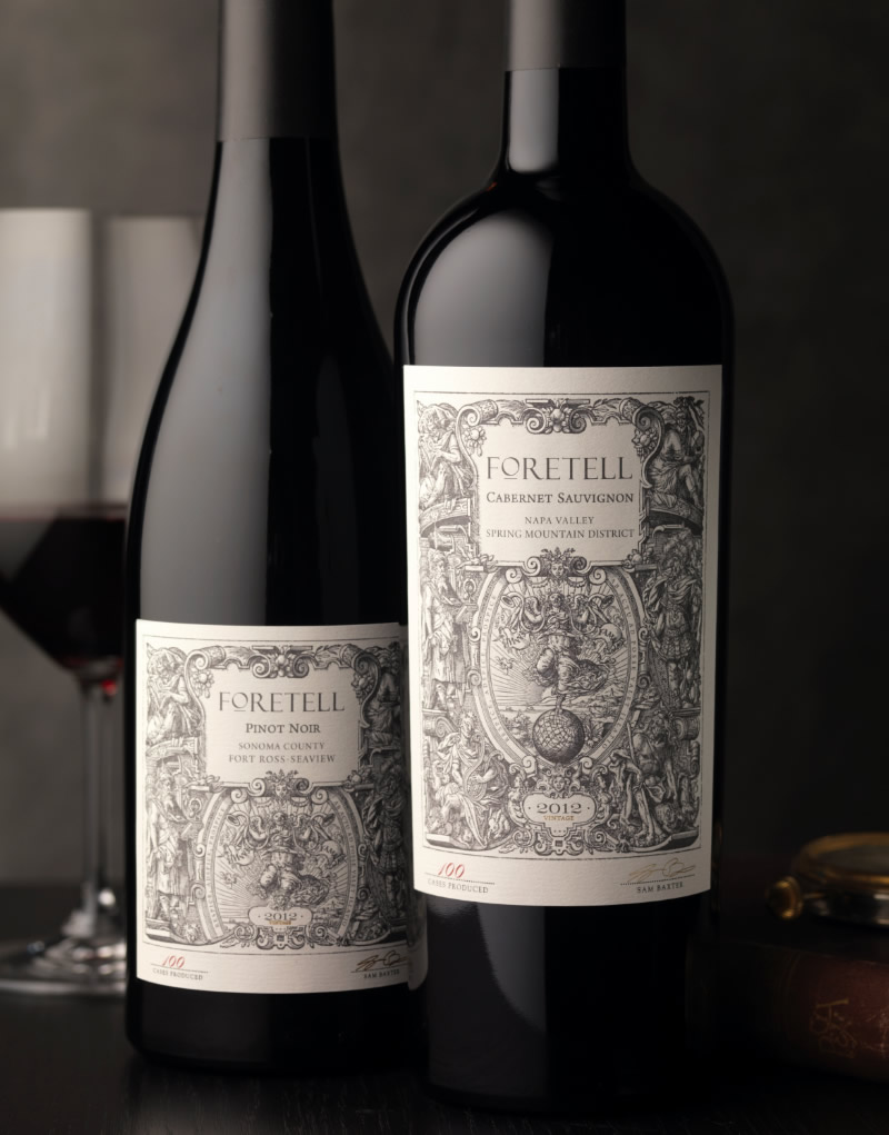 Foretell Wine Packaging Design & Logo