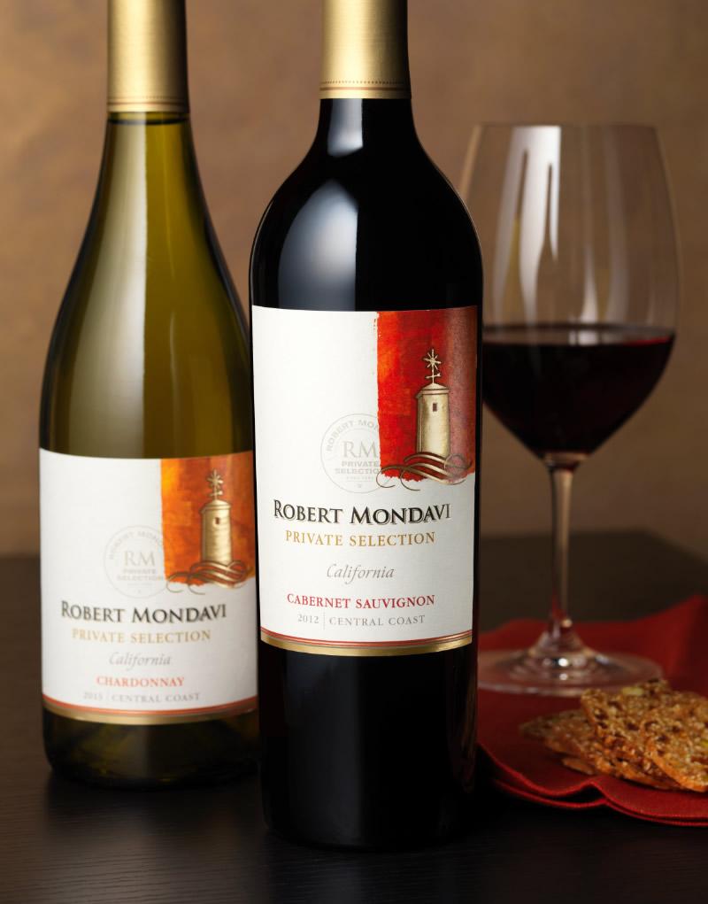 Robert Mondavi Private Selection Wine Packaging Design & Logo