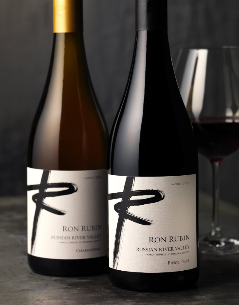 Ron Rubin Winery Packaging Design & Logo Russian River Valley