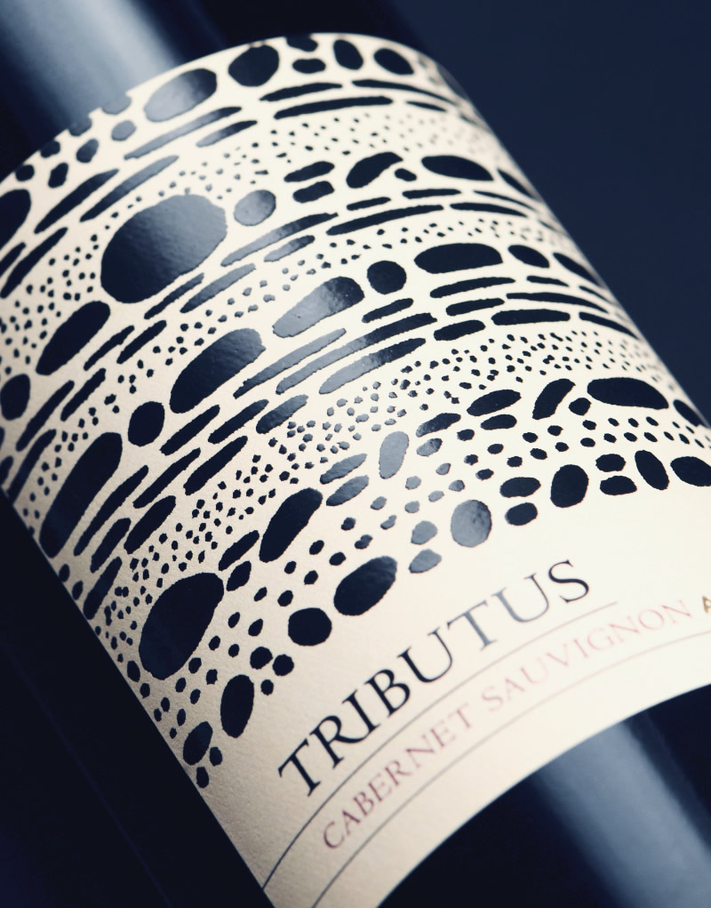 Tributus Wine Packaging Design & Logo Label Detail