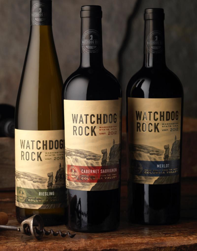 Watchdog Rock Wine Packaging Design & Logo
