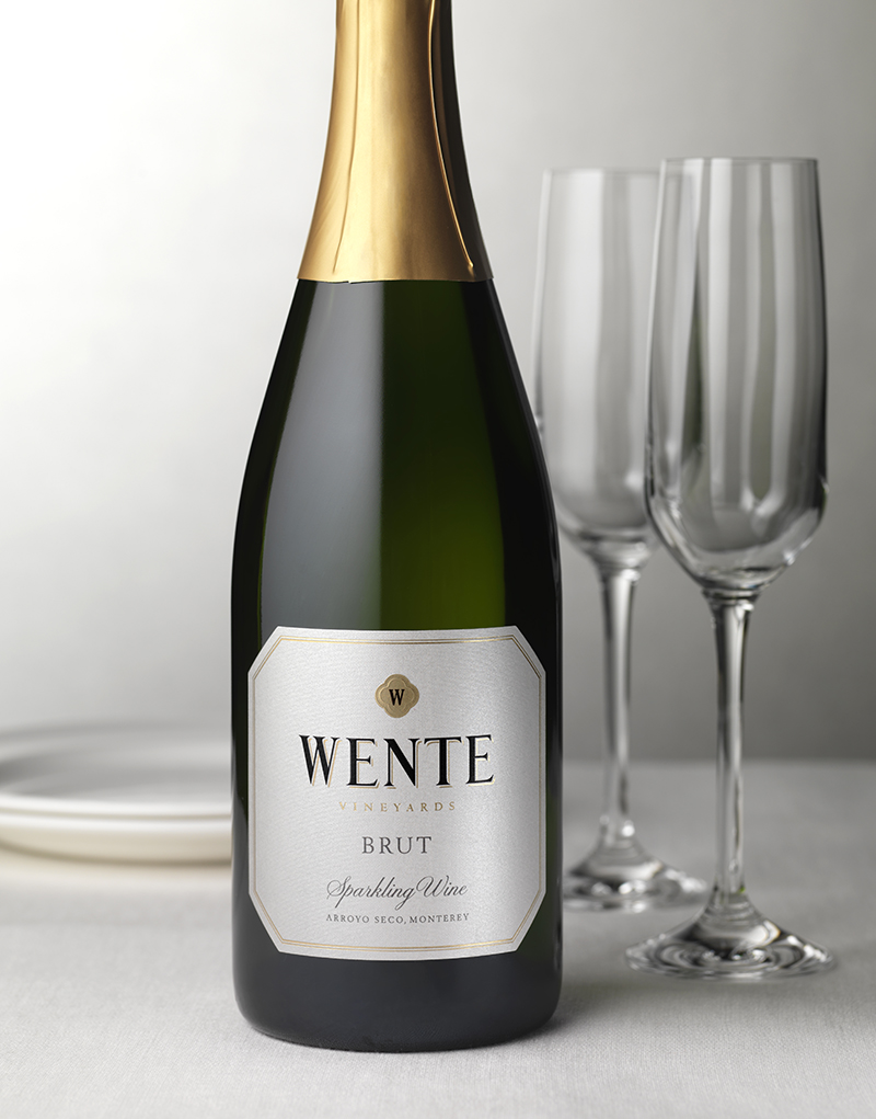 Wente Brut Wine Packaging Design & Logo