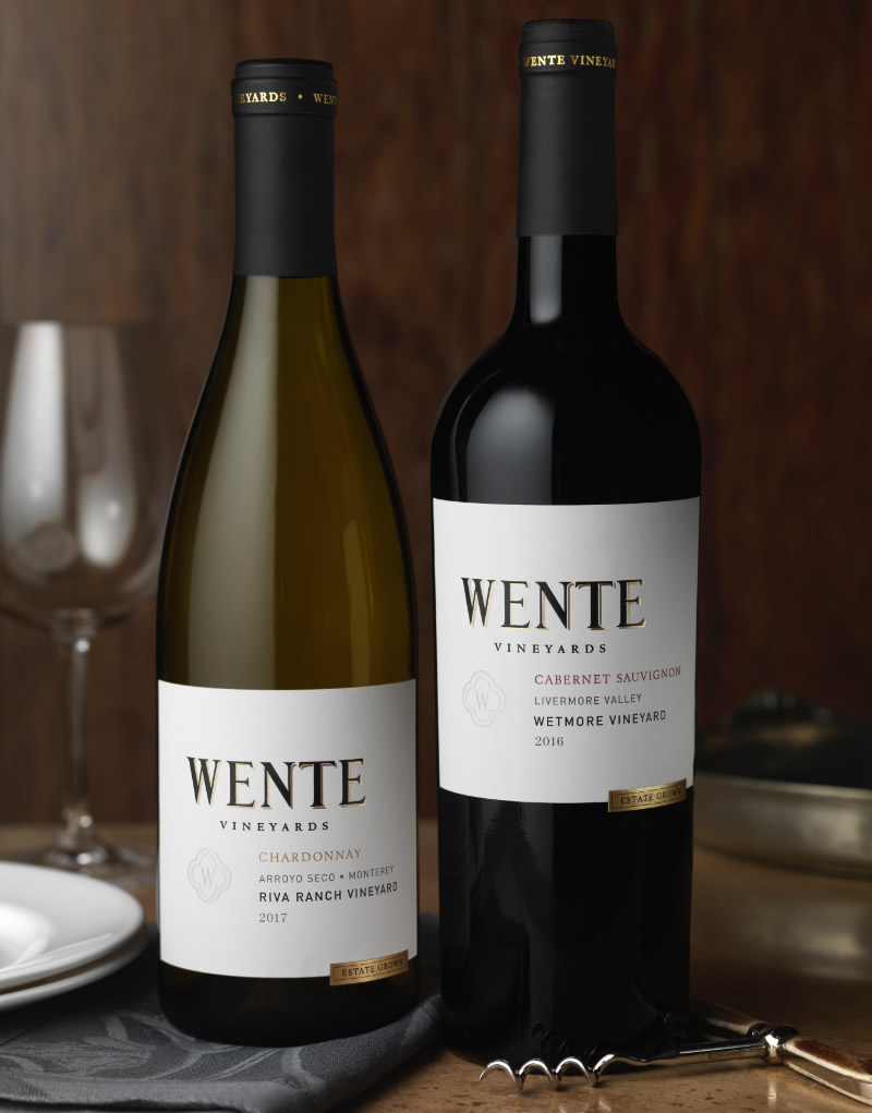 Wente Vineyards Wine Packaging Design & Logo