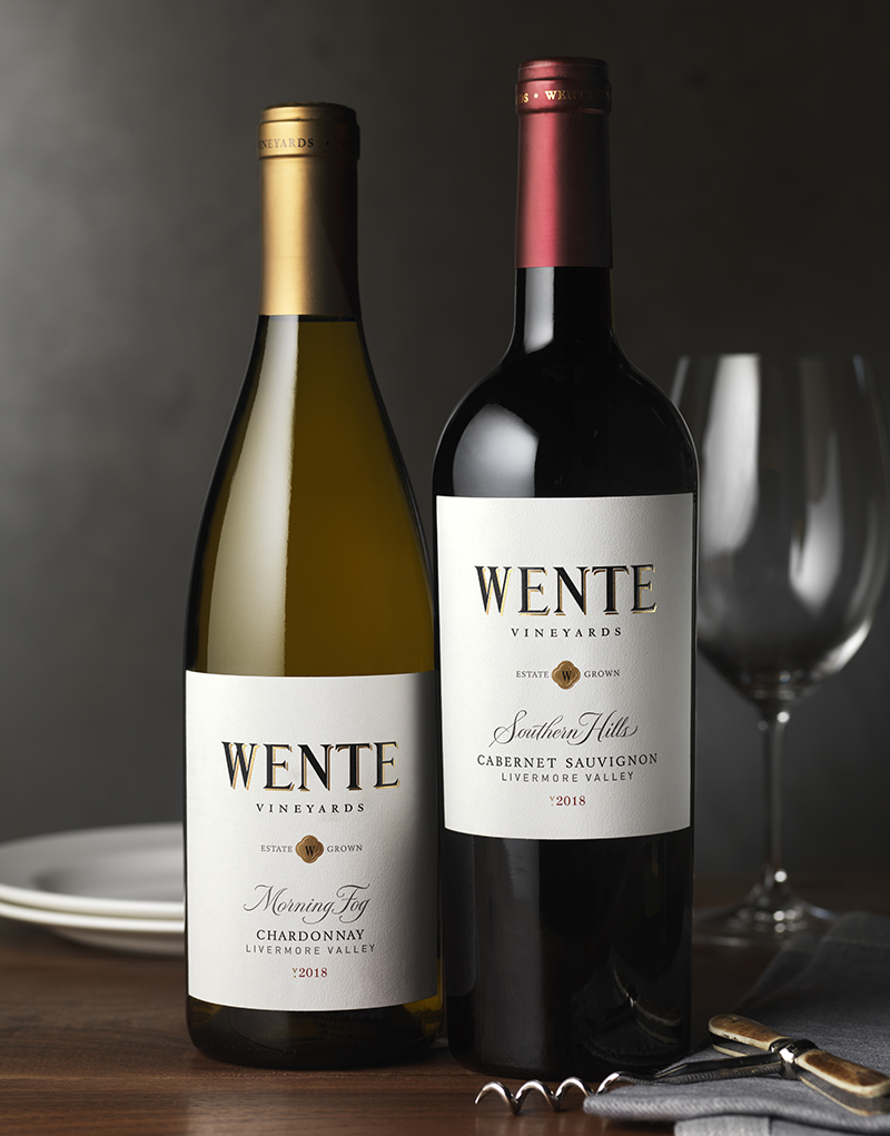 Wente Vineyards Wine Packaging Design & Logo Estate Wines