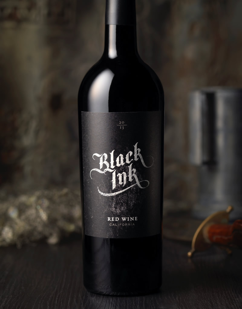 Black Ink Wine Packaging Design & Logo