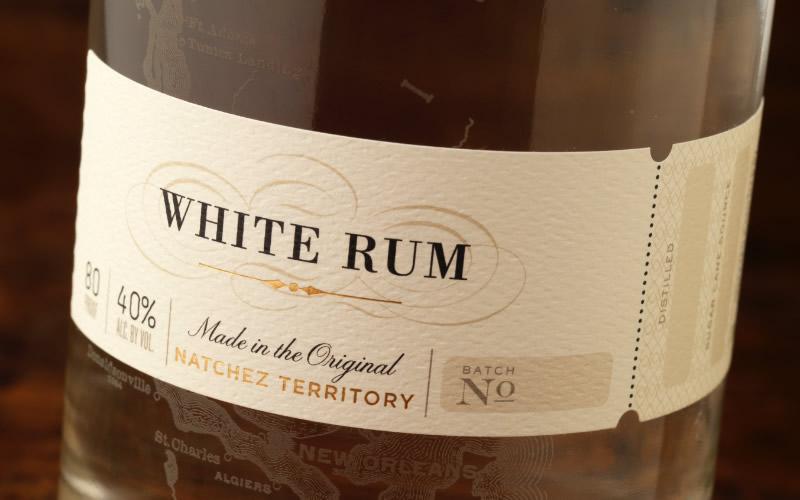 Charboneau Distillery Rum Packaging Design & Logo Label Detail