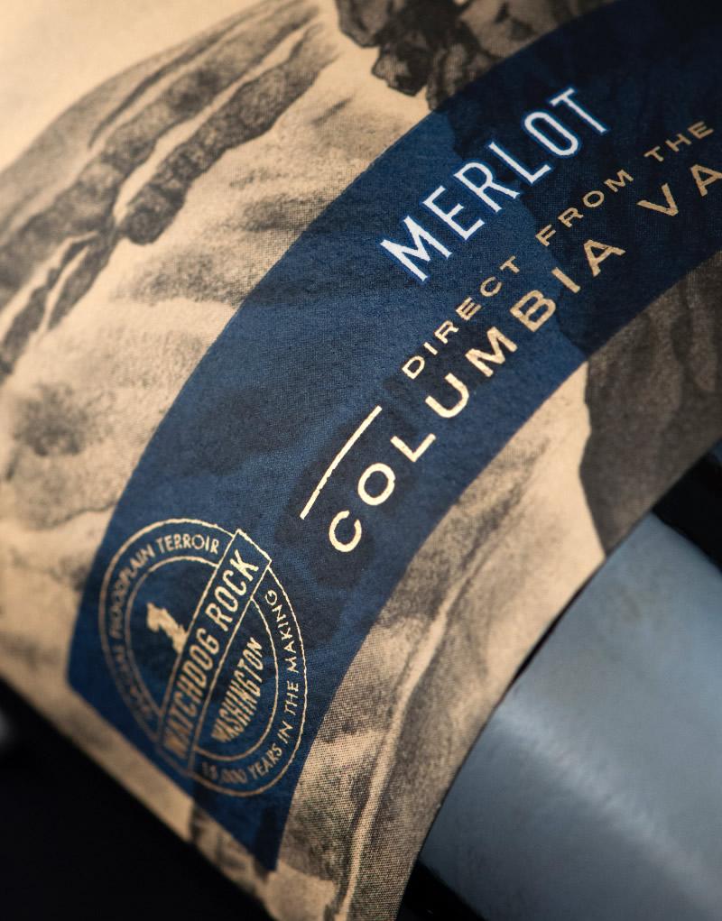 Watchdog Rock Wine Packaging Design & Logo Label Detail
