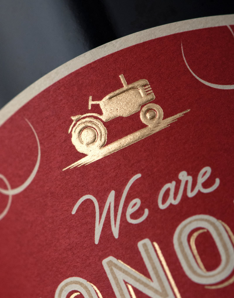 We are Sonoma Wine Packaging Design & Logo Label Detail
