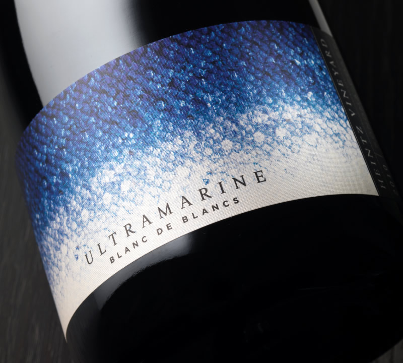 Ultramarine Wine Packaging Design & Logo Label Detail