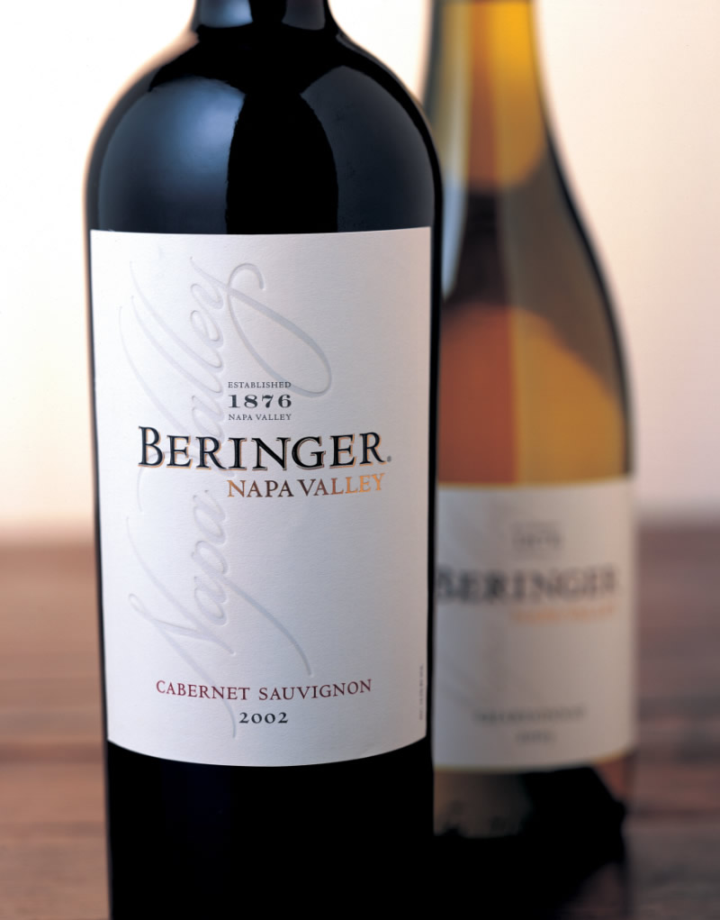 Beringer Wine Packaging Design & Logo