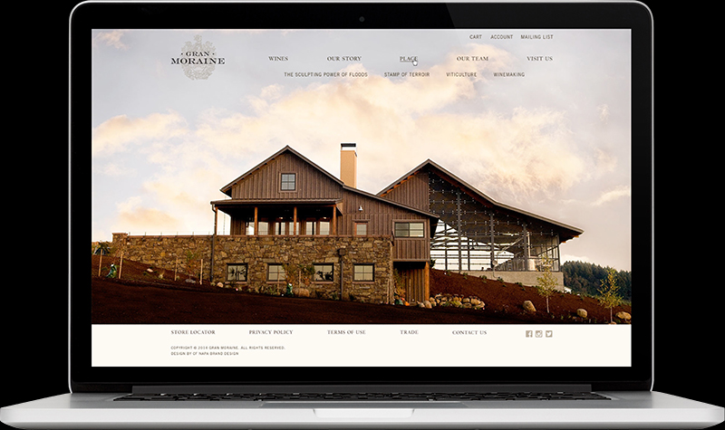Gran Moraine Homepage Website Design