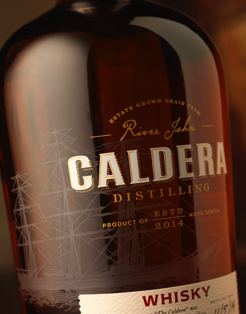 Caldera Distilling Co. Whisky Packaging Design & Logo Whisky Bottle & Label Detail