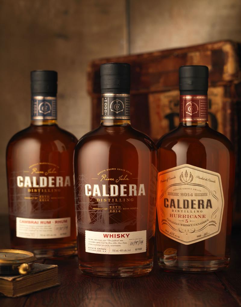 Caldera Distilling Spirits Packaging Design & Logo