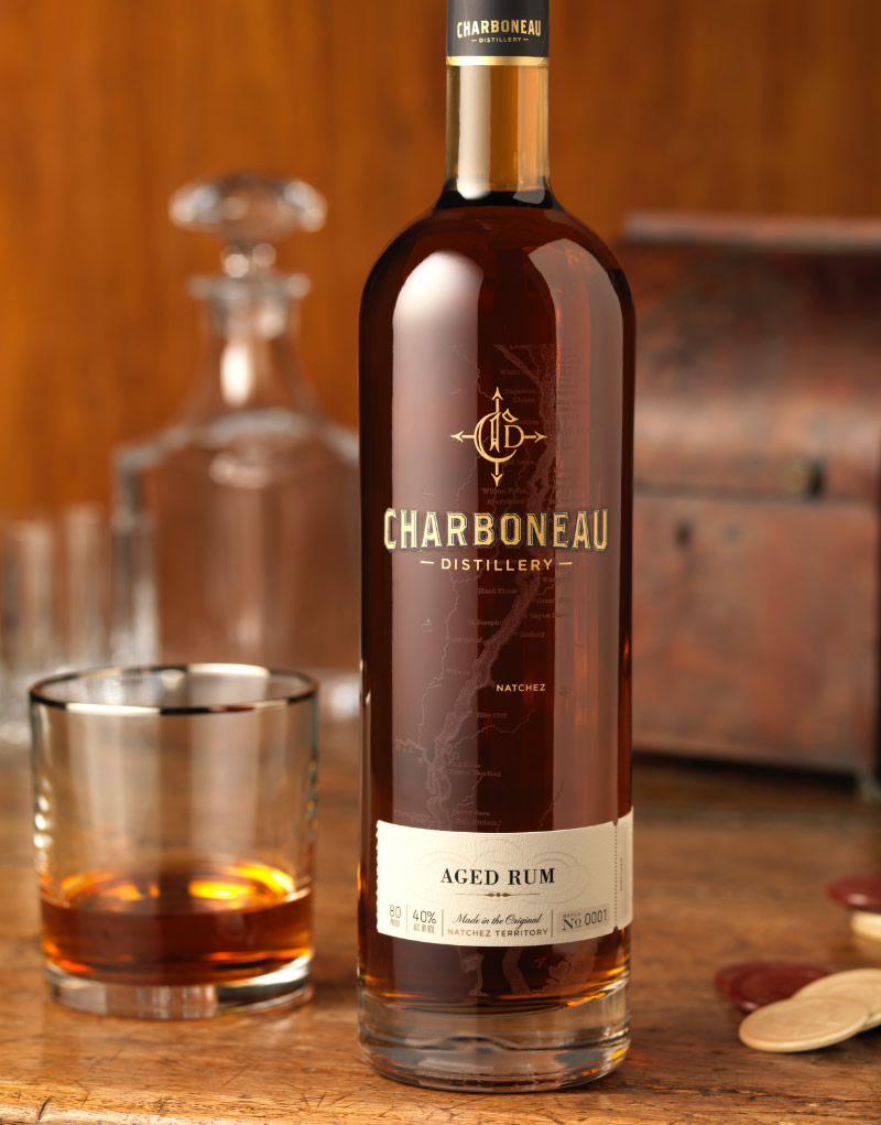 Charboneau Distillery Rum Packaging Design & Logo