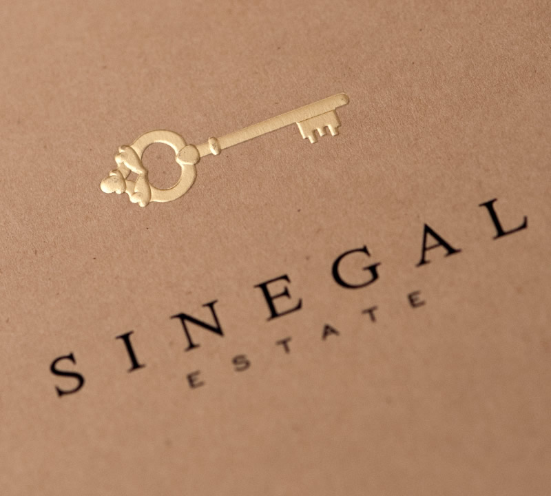 Sinegal Estate Brochure Design Logo Detail