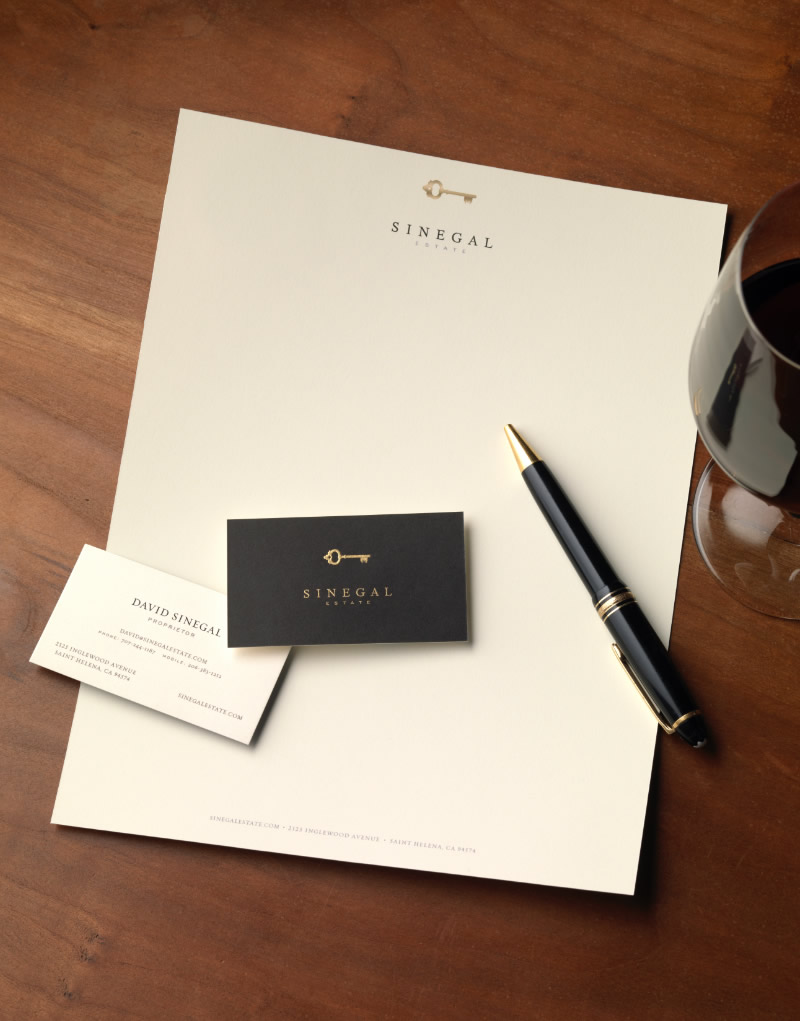 Sinegal Estate Stationery Design