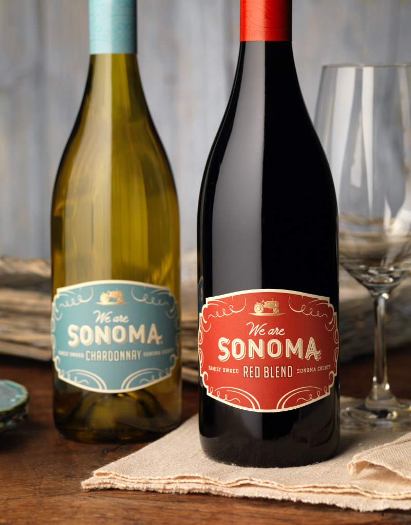 We are Sonoma Wine Packaging Design & Logo