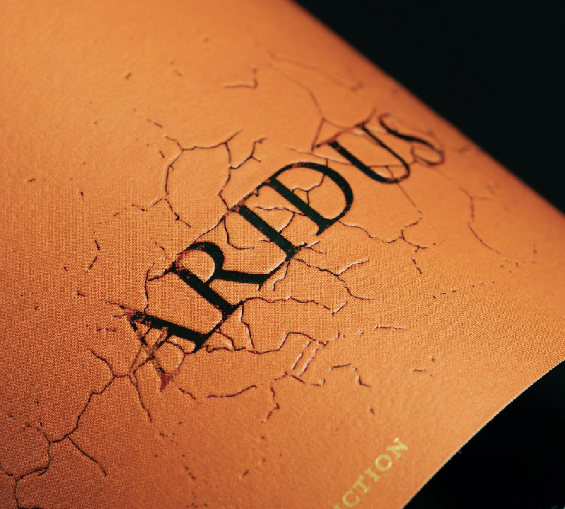 Aridus Wine Packaging Design & Logo Label Detail