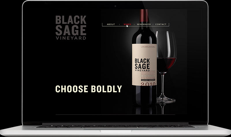 Black Sage Vineyard Homepage Website Design
