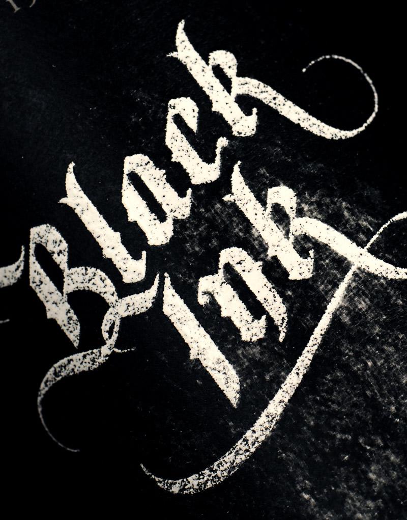 Black Ink Wine Packaging Design & Logo Label Detail