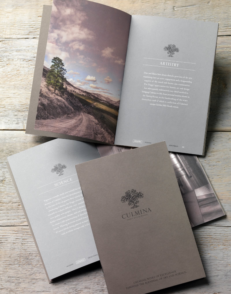 Culmina Family Estate Winery Brochure Design