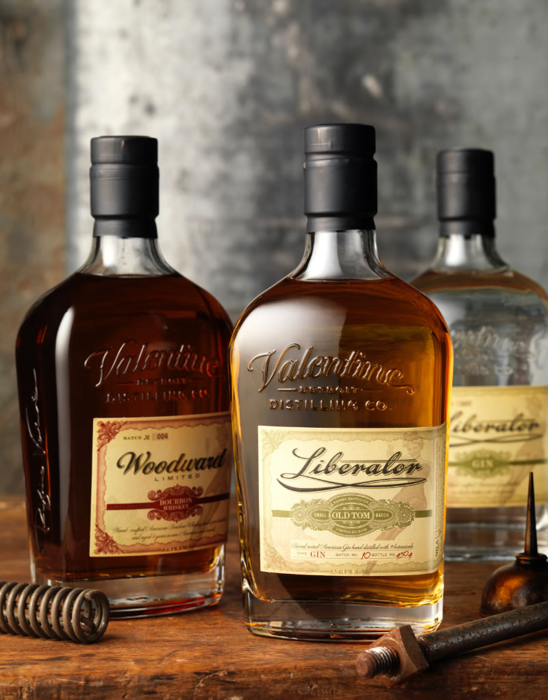 Valentine Distilling Co. Liberator Gin & Woodward Bourbon Packaging Design & Logo