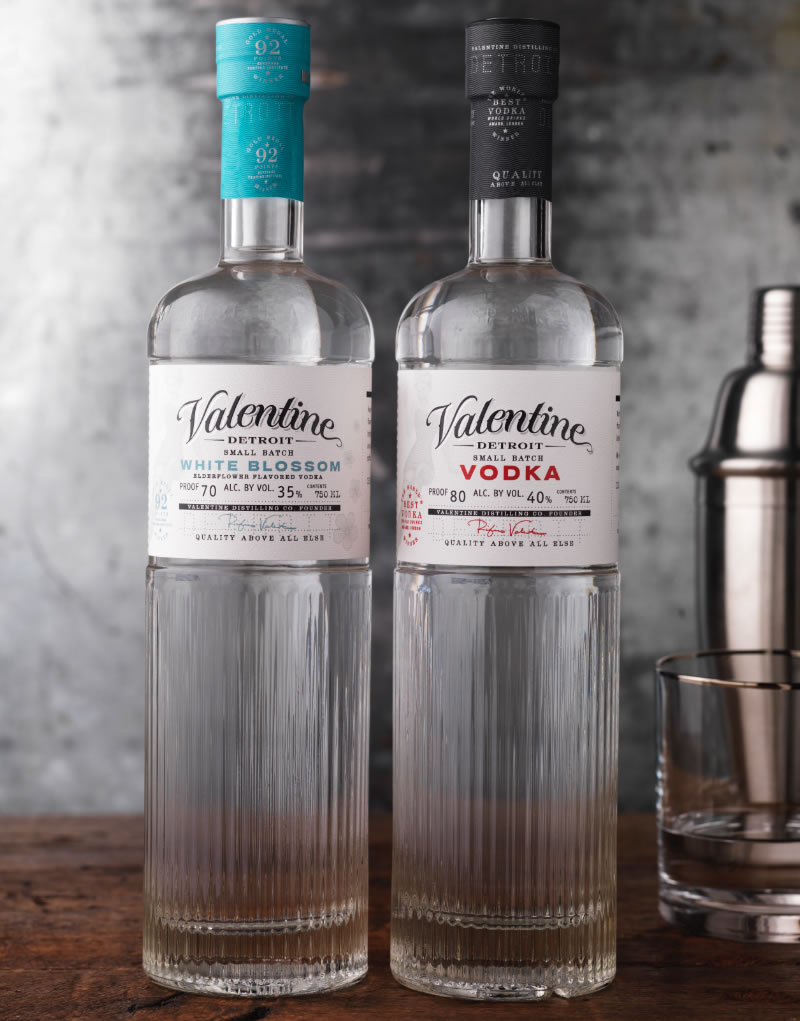 Valentine Distilling Co. Vodka Packaging Design & Logo