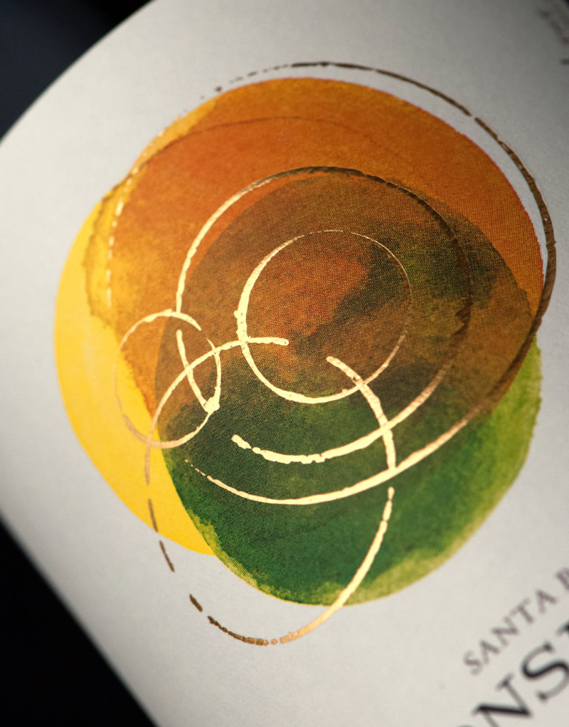 Consilience Wine Packaging Design & Logo Label Detail