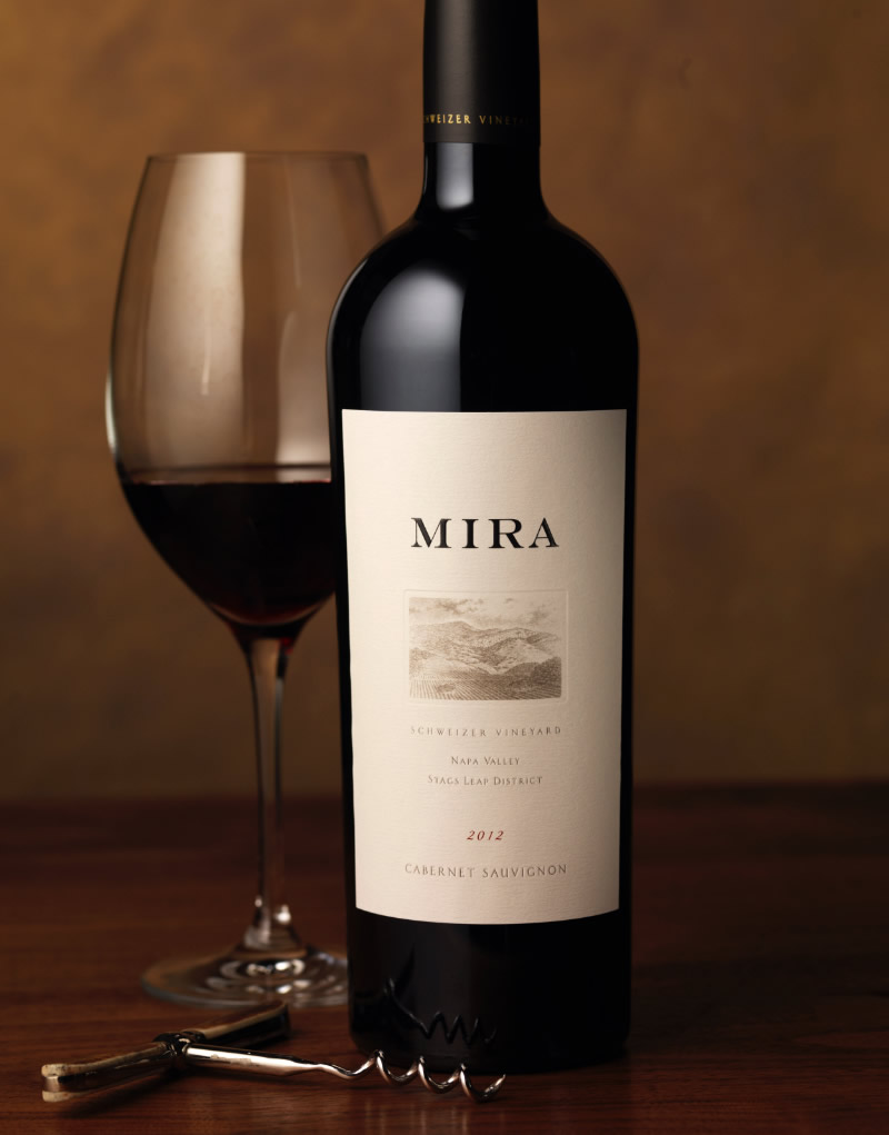 Mira Winery Packaging Design & Logo Schweizer Vineyard
