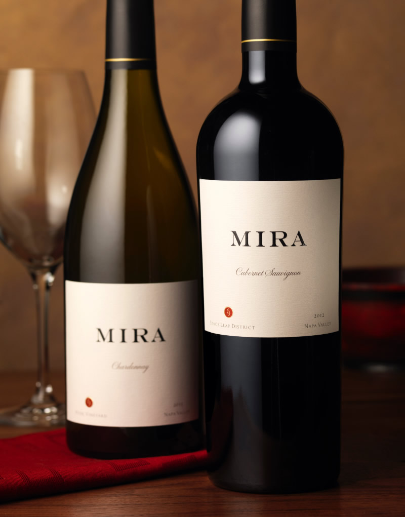 Mira Winery Packaging Design & Logo Stag's Leap Cabernet Sauvignon & Chardonnay