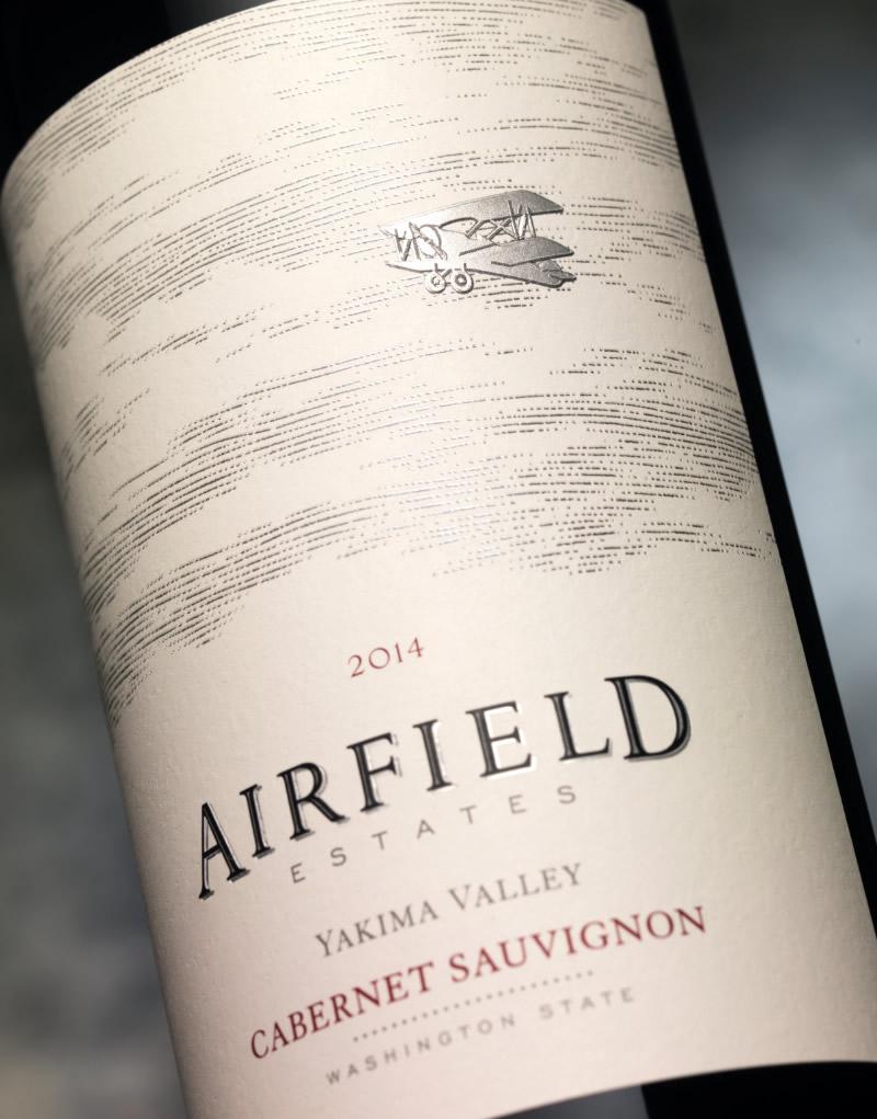Airfield Estates Wine Packaging Design & Logo Label Detail