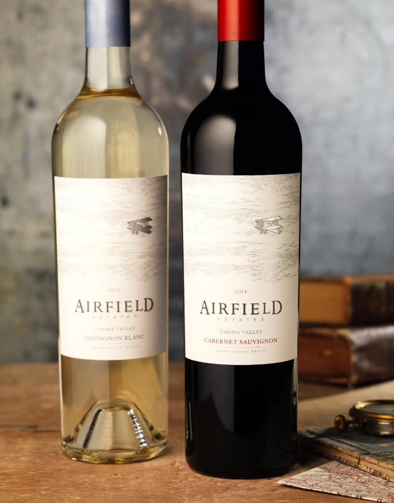 Airfield Estates Wine Packaging Design & Logo