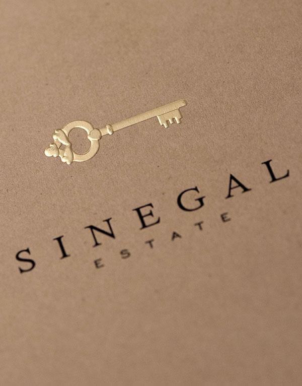 Sinegal Estate Brochure Design Detail