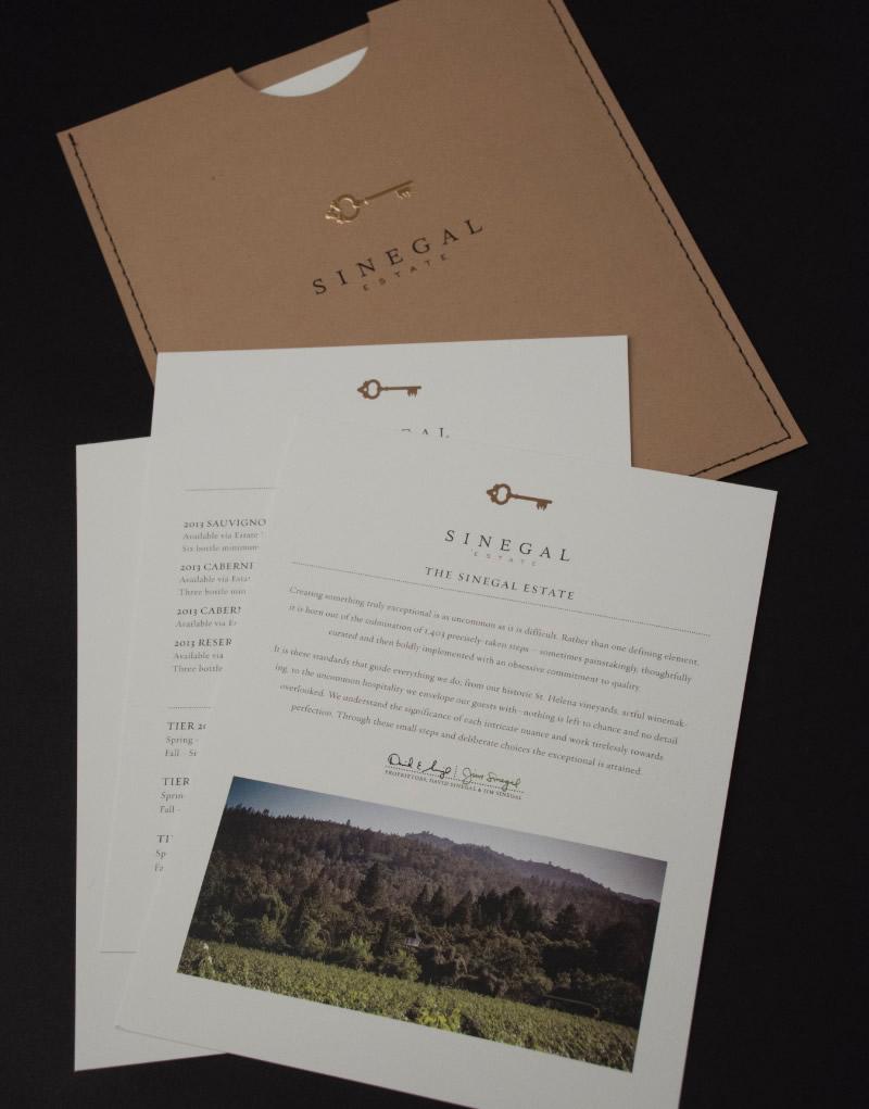 Sinegal Estate Brochure Design