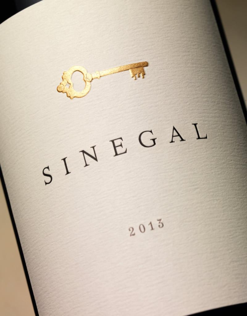 Sinegal Estate Wine Packaging Design & Logo Label Detail
