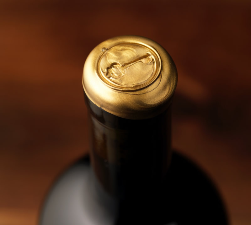 Sinegal Estate Wine Packaging Design & Logo Reserve Wax Detail
