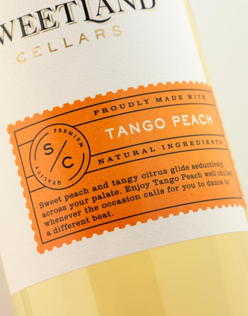 Sweetland Cellars Wine Packaging Design & Logo Label Detail