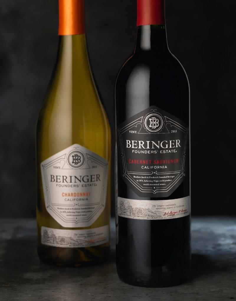 Beringer Founders' Estate Wine Packaging Design & Logo