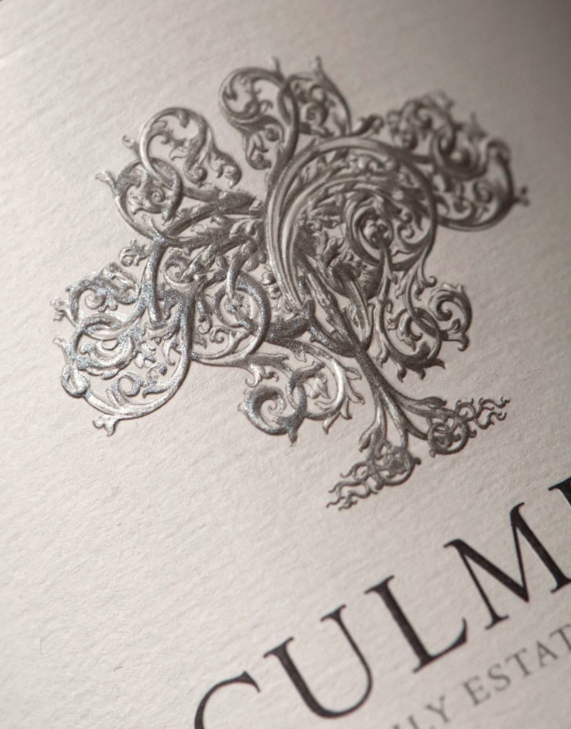 Culmina Wine Packaging Design & Logo Label Detail
