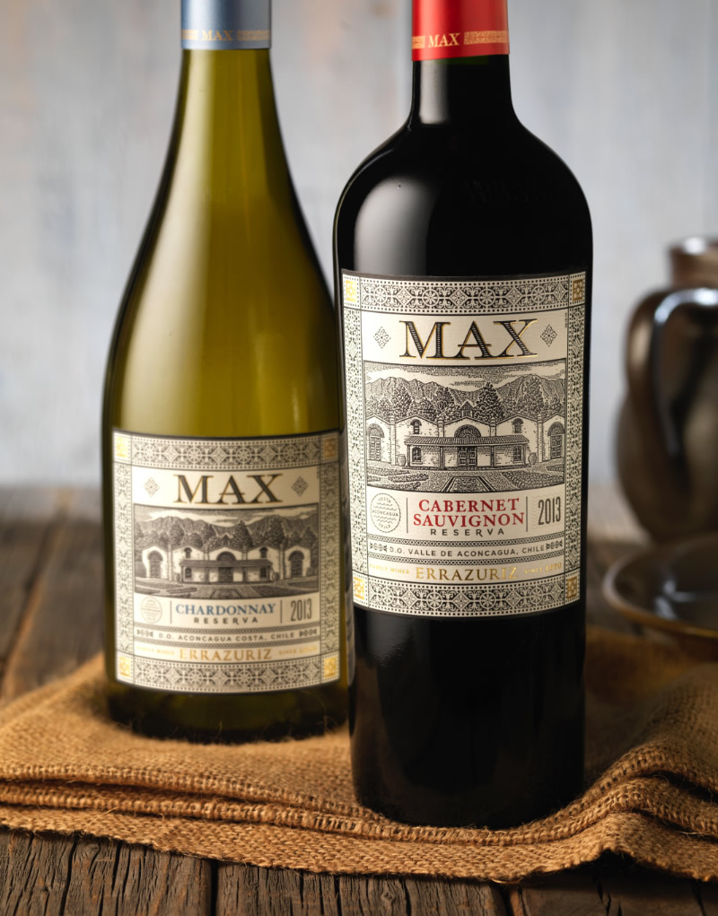 Errazuriz Max Reserva Wine Packaging Design & Logo