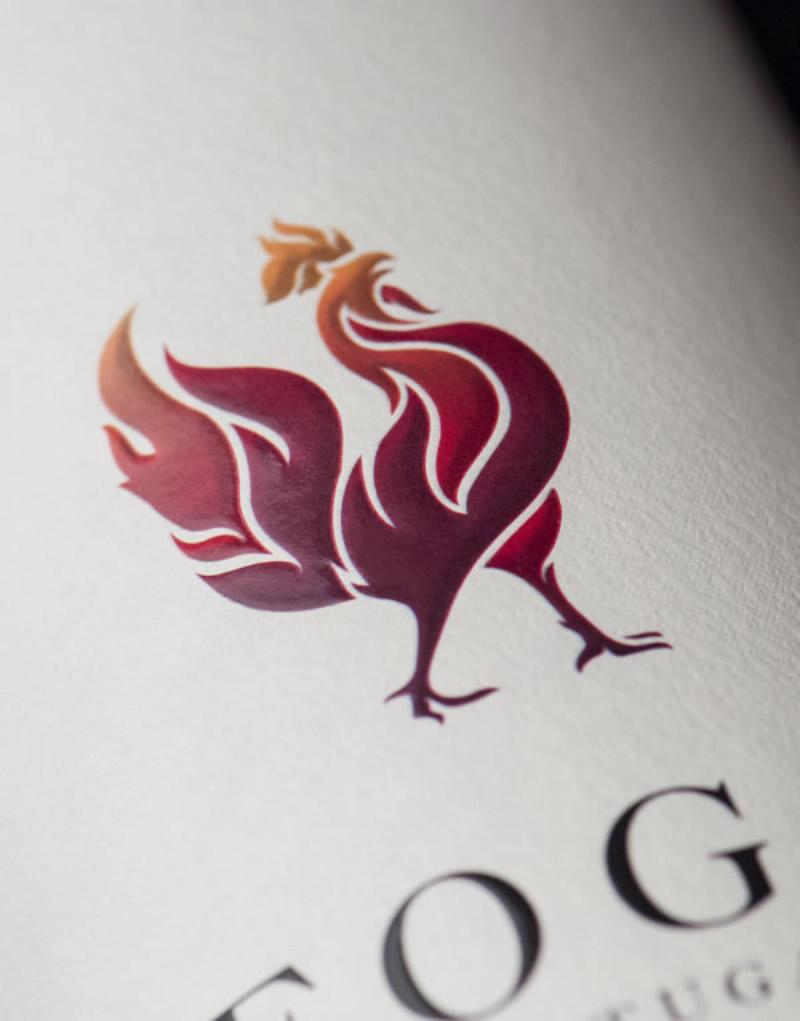 Fogo Wine Packaging Design & Logo Label Detail