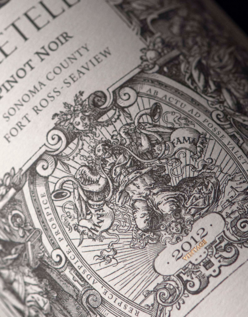 Foretell Wine Packaging Design & Logo Label Detail