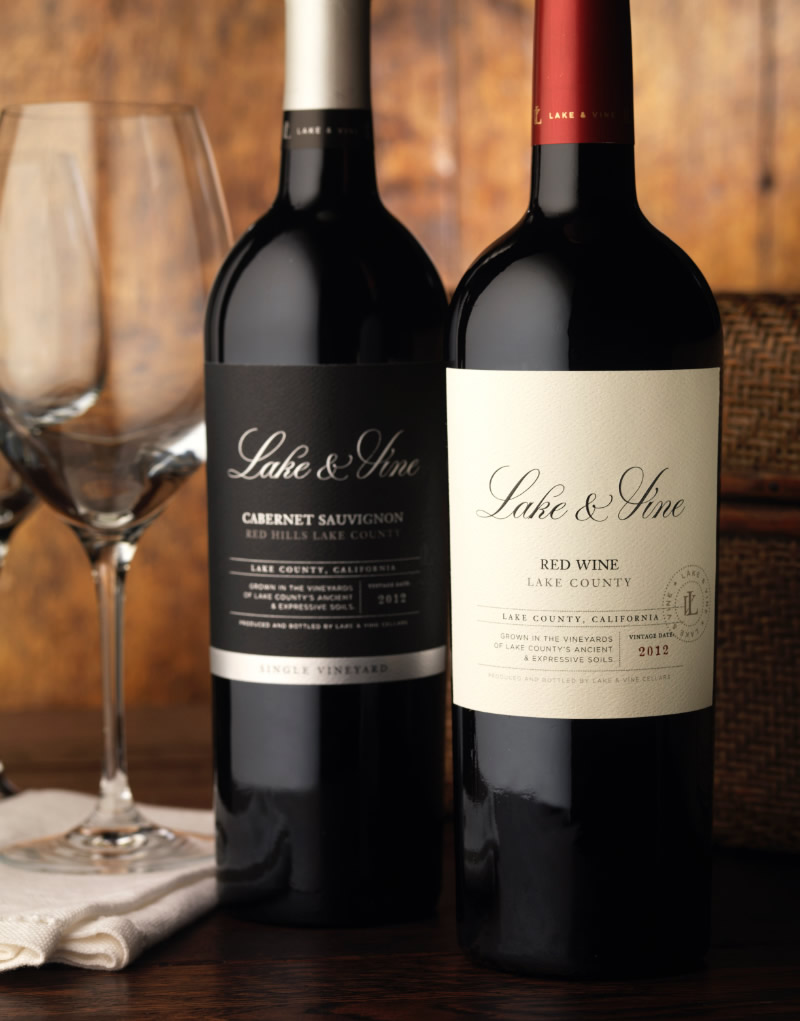 Lake & Vine Wine Packaging Design & Logo
