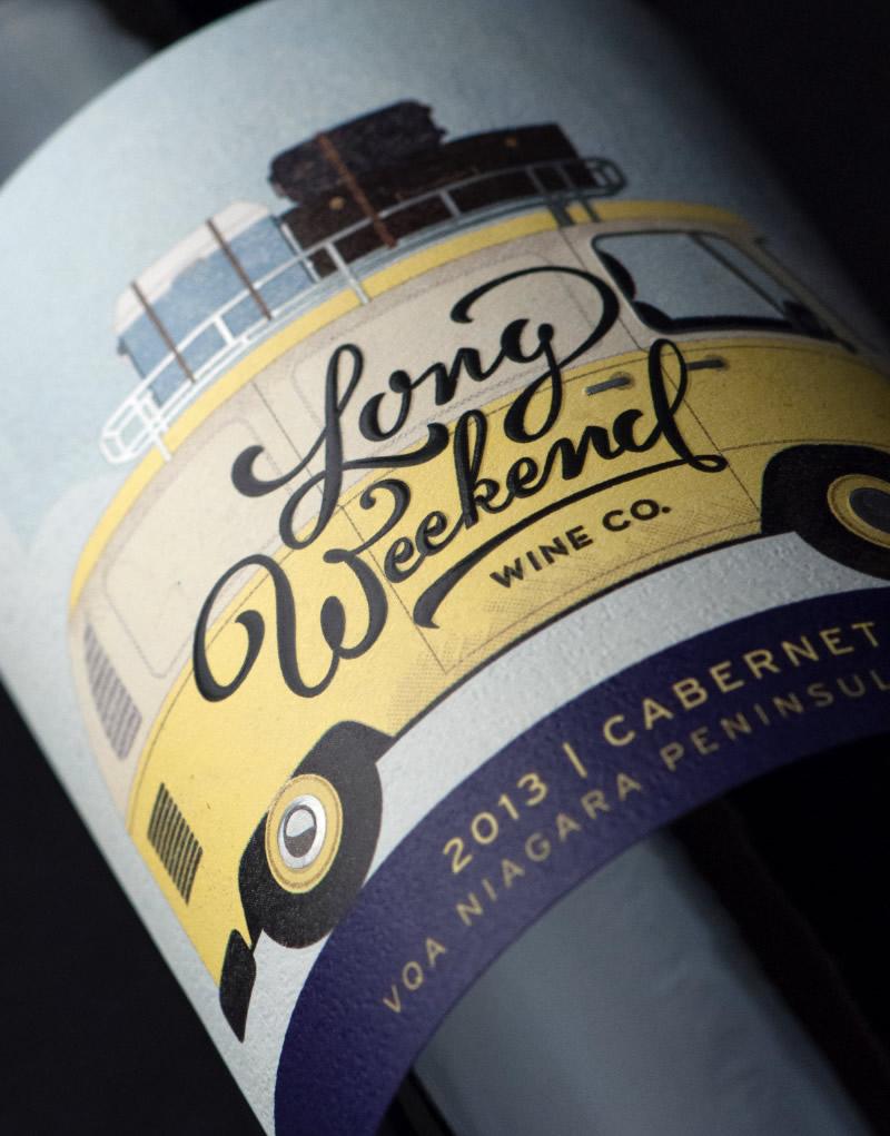 Long Weekend Wine Co. Packaging Design & Logo Label Detail