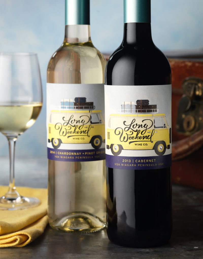 Long Weekend Wine Co. Packaging Design & Logo