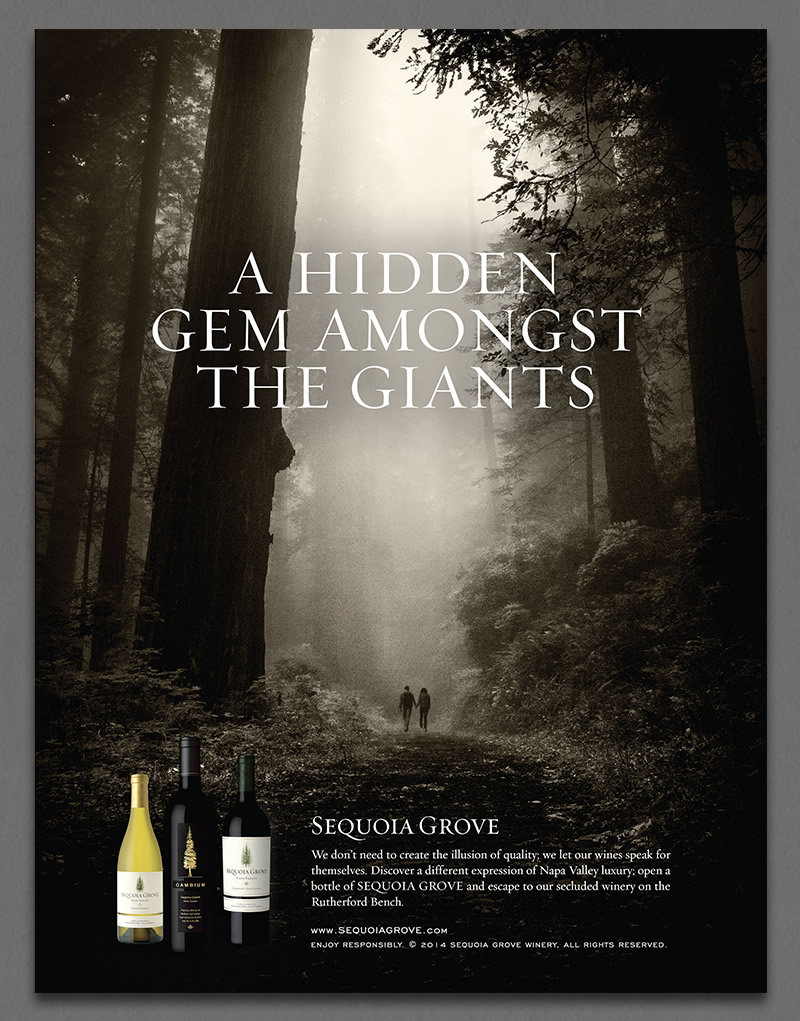 Sequoia Grove Winery Ad Design
