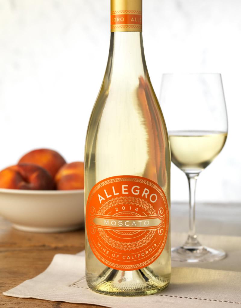 Allegro Moscato Wine Packaging Design & Logo