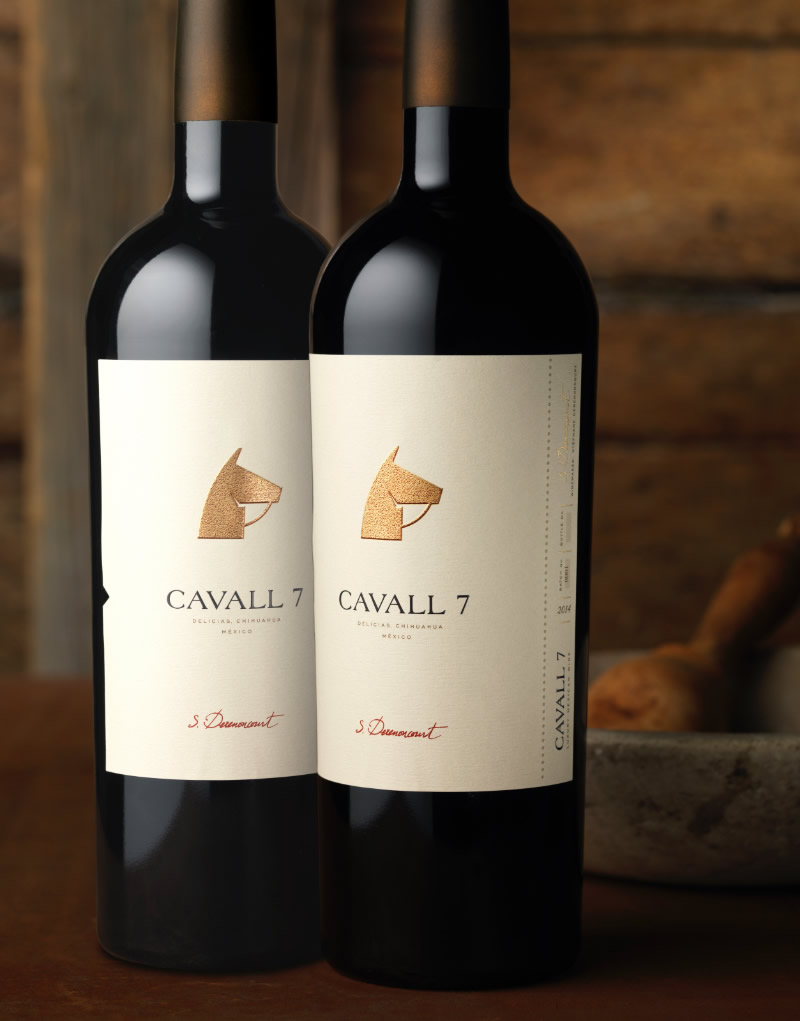 Cavall 7 Wine Packaging Design & Logo