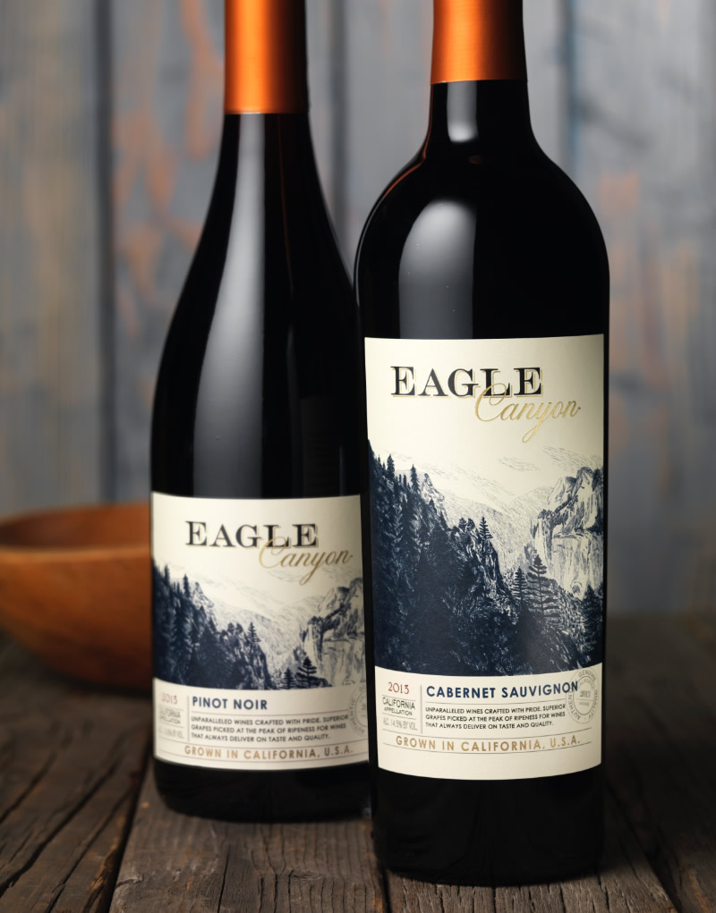 Eagle Canyon Wine Packaging Design & Logo
