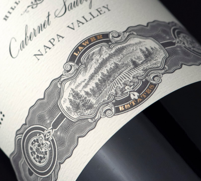 Lawer Estates Wine Packaging Design & Logo Label Detail